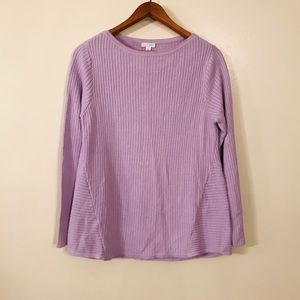 J. Jill lavender Long Sleeve Sweater